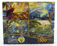Disney Dreams 500 Piece Jigsaw Puzzle 4-In-1 Collection Thomas Kinkade NEW art