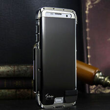 Armor Luxury Metal Hybrid Aluminum Bumper Stand Case Cover For Samsung iPhone