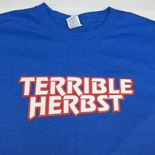 NEW TERRIBLE HERBST OFF ROAD TRUCK RACING GAS STATION TEE T SHIRT Mens XXL Blue