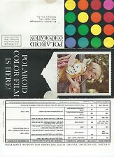 1963 Polaroid Polacolor 48 Film Brochure Trifold