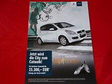 """SUZUKI Splash """"Germany´s next Topmodel"""" Sondermodell Prospekt von 2009"""