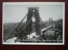 POSTCARD BRISTOL - CLIFTON SUSPENSION BRIDGE FROM OBSERVATORY HILL