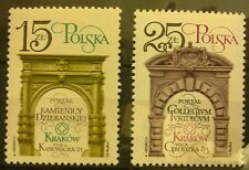 POLAND STAMPS MNH Fi2693-94 Sc2547-48 Mi2841-42 - Restorat. of Cracow-1982,clean