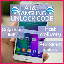 AT&T Samsung FACTORY UNLOCK CODE SERVICE Galaxy S3 S4 S5 S6 EDGE Note 2 3 4 5