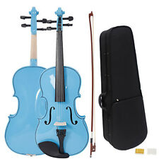 New Student Blue Adult Acoustic Viola with Case Rosin Bow 16""