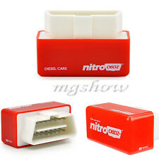 Universal Nitro OBD2 Chip Tuning Box Fuel Optimization Power for Diesel Cars Red