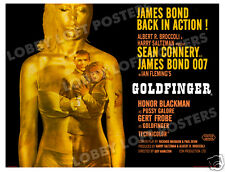 GOLDFINGER LOBBY CARD POSTER BQ 1964 JAMES BOND SEAN CONNERY HONOR BLACKMAN