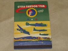 Original WW2 Air Force Will Rogers Field B 24 Liberator P 38 Lightning Matchbook