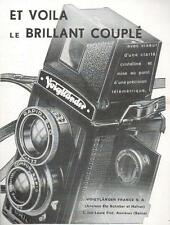 ▬► PUBLICITE ADVERTISING AD VOIGTLÄNDER BRILLANT COUPLE APPAREIL PHOTO 1938