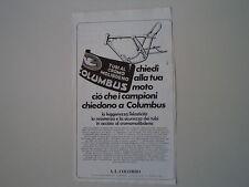 advertising Pubblicità 1979 TUBI COLUMBUS - A. L. COLOMBO - MILANO