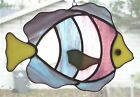 Handmade Stained Glass Tropical FISH SUNCATCHER (FV26)