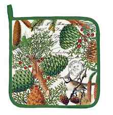 Michel Design Works SPRUCE Potholder - Pinecones, Bird, Berries, Pine