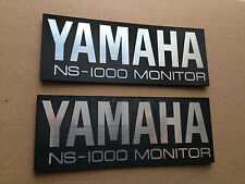 YAMAHA NS-1000 / NS-1000M MONITOR SPEAKER BADGES x 2