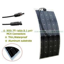 100W 12V Semi-Flexible Monocrystalline Solar Panel of Aluminum Substrate for Car
