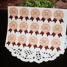 10 Sheets(150pcs) #Handmade Medal Shape Paper Stickers Decor Gifts Bakery Bags