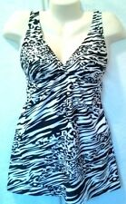 FANTASIZER ANIMAL PRINT SWIM SUIT DRESS 1 PIECE SLIMS SIZE 8