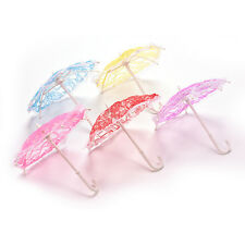 1X Umbrella for Barbies with Lace Girls Classic Dollhouse Furniture LE