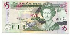 Eastern Caribbean 5 dollar 1994 St.Lucia   FDS  UNC  pick 31 L    lotto 3185
