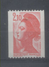 FRANCE TIMBRE ROULETTE 2322a N° rouge au verso LIBERTE rouge - LUXE **