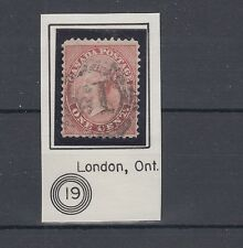 4 ring numeral LONDON #19 RF4 , 0ne Cent Canada used