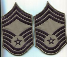 US Air Force CHIEF Master Sergeant Lot 2 Arm Patchs ACU Stripes