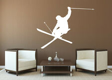 Skier Wall Decals Sports Vinyl Sticker Skiing Snow Decor Mens Gift Decal X122