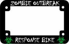 MOTORCYCLE ZOMBIE OUTBREAK RESPONSE BIKE  Motorcycle License Plate Frame