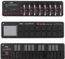 Korg NanoPad2 NanoKey2 NanoKontrol 2, all 3 Korg Nanos,Black, bundle priced NEW