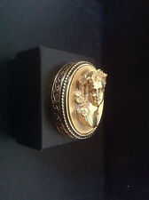 Estee Lauder 1984 Youth Dew Golden Cameo Compact for Solid Perfume full