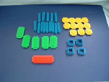 Vintage playskool bristle building block 35 piece lot