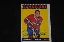 JEAN-GUY TALBOT 1965-66 TOPPS SIGNED AUTOGRAPHED CARD #4 MONTREAL CANADIENS