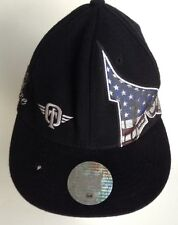 Tapout Black Ball Hat Flat Bill Distressed Used S/M  Simply Believe On Side