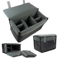 Insert Padded Camera Bag for DSLR Folding Divider Partition Protect Case Black