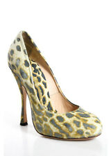 VIVIENNE WESTWOOD Multi-Color Suede Animal Print Round Toe Pumps Sz 36 6 RSB177