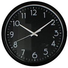 Hometime Retro Vintage Round Kitchen Bedroom Wall Clock, 24cm, Black