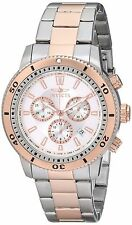 NEW Invicta 1204 II Men's Chronograph Stainless Steel 18K Rose Gold Date Watch