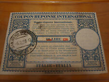 coupon reponse international 60lire rivalutato 120lire