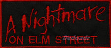 A Nightmare On Elm Street Logo Embroidered Patch Horror Movie Freddy Krueger