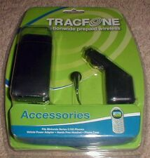 Tracfone Motorola C155 Series Phone Accessories - Car Charger, Headset & Case