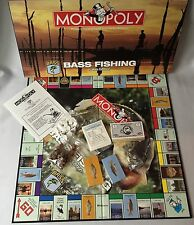 Monopoly Bass Fishing Lakes Edition Complete Parker Brothers Game Parts Sealed