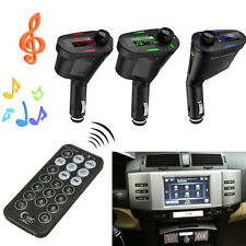 REPRODUCTOR MP3 TRANSMISOR FM COCHE MECHERO ENCENDEDOR RADIO SD/MMC USB LCD LED