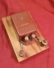 antique capacitor demonstration general radio co cambridge mass 0.1 uf wood