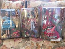 (3) Brand NEW NRFB Barbie Doll Alice In Wonderland Set Mad Hatter Queen Hearts