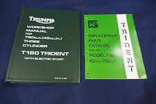 TRIUMPH TRIDENT T160 GENUINE WORKSHOP MANUAL AND ILLUSTRATED PARTS CATALOGUE
