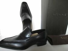 GUCCI BLACK LEATHER MENS SHOES SIZE 40 EEE NEW IN BOX MADE IN ITALY