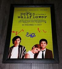 "THE PERKS OF BEING A WALLFLOWER PP SIGNED FRAMED A4 12""X8"" PHOTO POSTER"