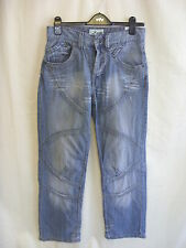 """Mens Jeans - Voi Jeans, 30""""W/30""""L, light blue, distressed, fraying, stylish 7747"""
