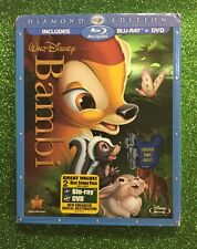 Bambi (Blu-ray/DVD, 2011, Diamond Edition) New w/ Slipcover OOP Disney
