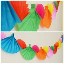 Celebration Rainbow Paper Fan Garland Banner 12 Ft Long Birthday Fiesta Party