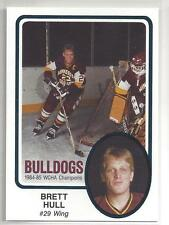 Brett Hull 1985 Minnesota Duluth Bulldogs Hockey XRC Pre Rookie 1st Card! Blues
